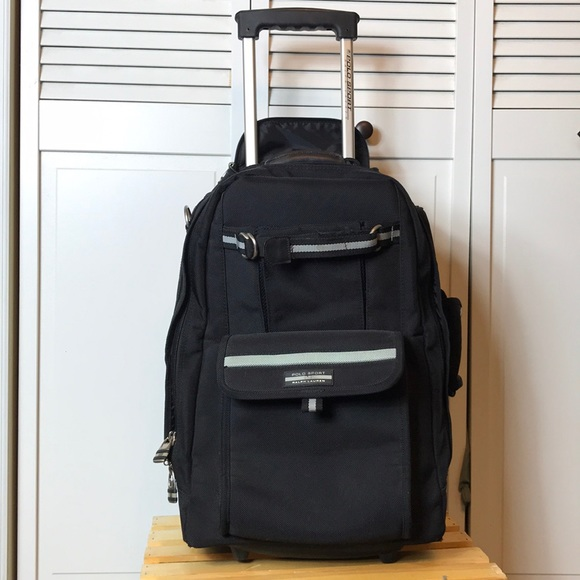f327e89602 Ralph Lauren Polo Sport Black Rolling Backpack. M 5af7502405f43012272c65b1
